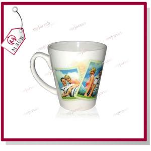 12oz Sublimation V Shape Latte Mug White Ceramic pictures & photos