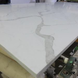 Factory Artificial Quartz Stone Calacatta Big Slab pictures & photos