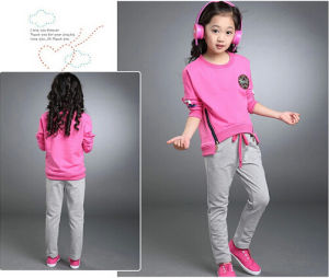 2015 Newest Fashion Girl Zippers Pullover Sport Leisure Suit Leisure Apparel (S911) pictures & photos