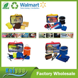 Car Cleaning Set with Zip Bag Towel and Glove etc. pictures & photos