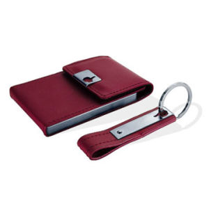 Custom Green Card Holder and Keychain Gift Set (QL-TZ-0088) pictures & photos