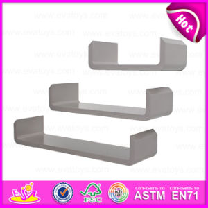 2015 Floating Wall Mounted Shelf with Lip, Fashion Modern Wall Shelf with Lip, MDF Wooden Decorative Floating Wall Shelf W08c109 pictures & photos