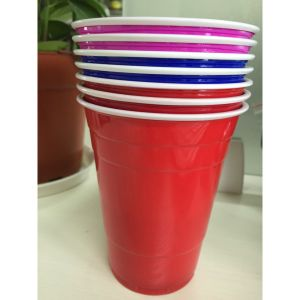 Juice Plastic PS Red Cups 16 Oz pictures & photos
