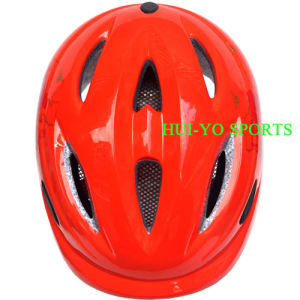 in-Mold Child Helmet, Orange Helmets, Children Skate Helmet pictures & photos
