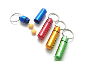 Hot Selling Pill Box Keyring with Various Color pictures & photos