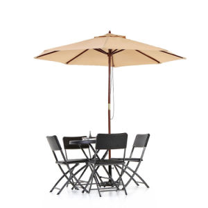 Wooden 2.7m Patio Umbrella Cafe Beach Canopy 8 Ribs 38mm Pole