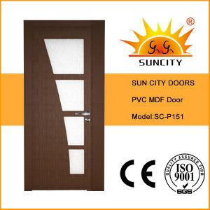 Top Design Glass MDF Interior Door Price (SC-P051) pictures & photos