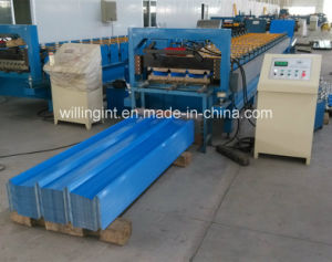 High Wave Blue Wall Roof Panel Roll Forming Machine pictures & photos