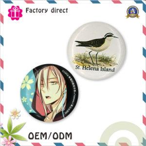 Custom 50mm Printed Iron Logo Tinplate Bottom Button Badge pictures & photos
