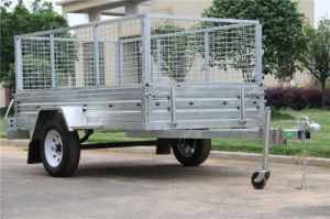 Hot Dipped Galvanised Small Box Trailer with PVC Tarp pictures & photos