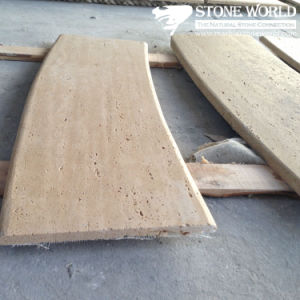 Polished Beige Travertine Curved Marble Stone Tile for Coppings pictures & photos