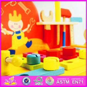 2016 New Design Cartoon Children Wooden DIY Workbench Toys W03D077 pictures & photos