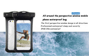 2016 High Quality Top PVC Waterproof Cell Phone Cover Bag for Swimming Diving Outdoor Sports Smart Phone Cash (WB-V2) pictures & photos