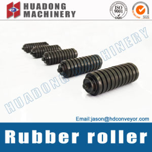 Impact Rubber Roller for Belt Conveyor System pictures & photos