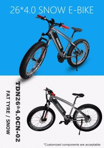 26X4′′ MID Drive Electric Fat Tire Bike with Hidden Battery pictures & photos