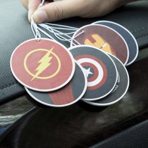 Hanging Paper/Shoe Car Solid Perfume Superhero Logo pictures & photos