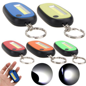 Promote Gift Super Mini Colorful Flashlight COB LED Flashlights Torch LED Keychain Light with Portable Tail Use 2 Cr2032 Battery pictures & photos