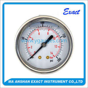 Dial Type Ss Case with Liquid Filled Pressure Gauge pictures & photos
