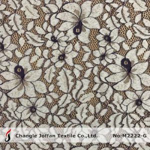Apparel Two Color Polyester Lace Fabric (M2222-G) pictures & photos