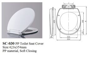 Sc-030 Round Shape Toilet Seats, Soft Closing Toilet Seat Cover pictures & photos