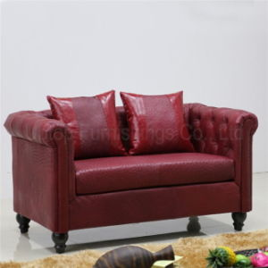 (SP-KS314) Modern Best Quality Red Leather Sofas for Bar pictures & photos
