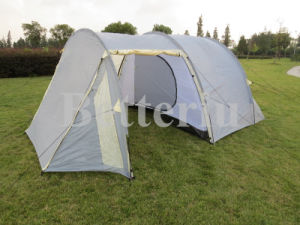 Camping Tunnel Tent Luxury Room for 3-4 Person Plenty of Space for Family Camping pictures & photos