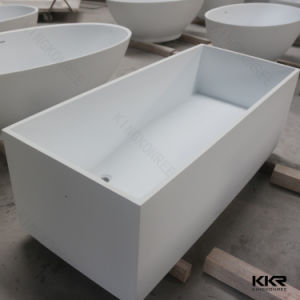 2017 White Artificial Stone Indoor Hotel Freestanding Bathtub pictures & photos
