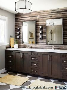 2017 New America Style Wood Veneer Cupboard for Bathroom Vanity Cabinets pictures & photos
