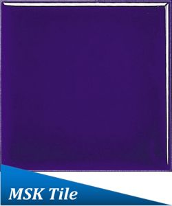 "4X4"" Gloss Navyblue Water Proof Flat Ceramic Glazed Wall Tile"
