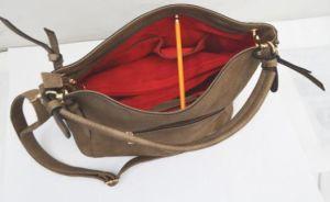 Top Quality PU Leather Vintage Messenger Hobo Handbag pictures & photos