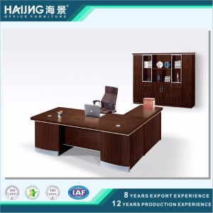 Modern Brown Walnut Melamine Boss Office Furniture pictures & photos