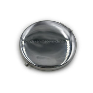 Special Round Shape Promotion Gift Metal Makeup Mirror pictures & photos