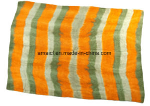 Checked Printed Machine Flat Bed Printed Acrylic Shawl (ABF22004015) pictures & photos