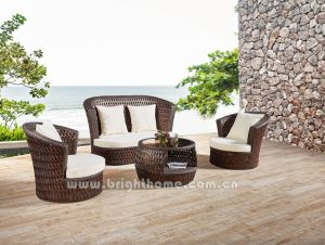 Hand Craft Outdoor Wicker Sofa Set Furniture Dubai Series pictures & photos