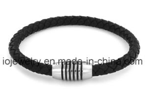 Black Leather Bracelets with Magnetic Clasps pictures & photos