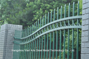 Haohan Beautiful Industrial Residential Security Garden Galvanized Steel Fence 90 pictures & photos