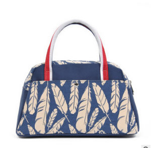 2016 Fashion PU Leather and Canvas Lady Handbags (BDX-161025) pictures & photos