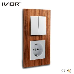 Mechanical Switch and Socket in Connect Version Wood Outline Frame pictures & photos