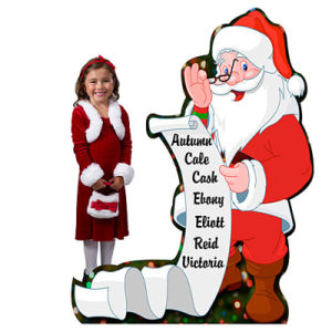 Special Design Beauty Shaped Christmas Cardboard Standee for Show pictures & photos