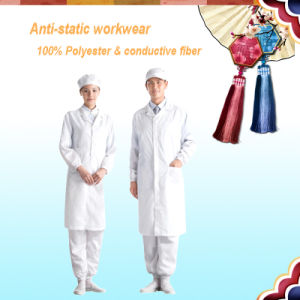 Best Price ESD Cleanroom Garment ESD Jackets with Button pictures & photos