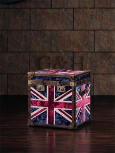 UK Flag Fabric Trunk pictures & photos