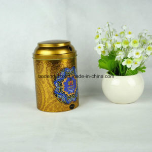 Custom Round Metal Tin Box for Tea pictures & photos