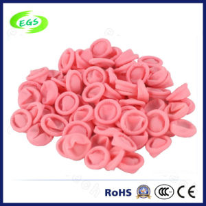 100% Pink Natural Latex ESD Finger Cots Without Powder pictures & photos