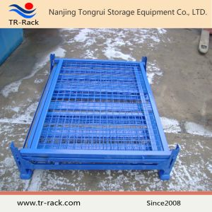 Heavy Duty Foldable & Stackable Wire Mesh Cage for Warehouse Storage pictures & photos