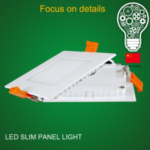 High Brightness Ultra Thin Aluminum Housing 9 Watt LED Panel Light