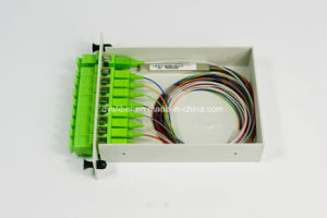 Stainless Steel Mini Type 1260-1650nm 1X8 Fiber Optic PLC Splitter with Scapc Connector pictures & photos