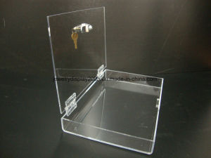 Acrylic Lucite Locking Security Show Case Safe Box Display Tray pictures & photos