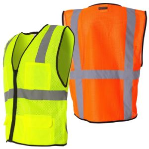 Reflective Safety Vest with Mesh Fabric Dfv1089 pictures & photos
