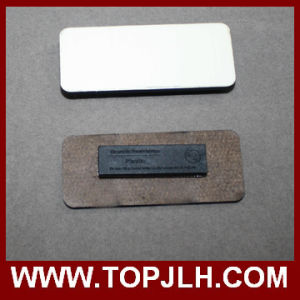 Custom Name Print MDF Wooden Magnetic Name Tag pictures & photos