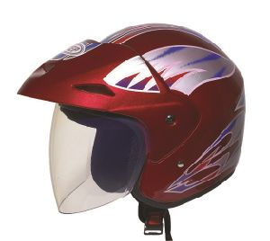 Motorcycle Helmet 3/4 Open Face Half Helmet with Full Face Shield Visor, Factory Price pictures & photos
